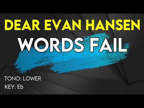 Dear Evan Hansen – Words Fail – Karaoke Instrumental – Female