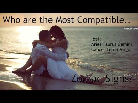 Who're the Most Compatible.. Zodiac Signs pt1? Aries, Taurus, Gemini, Cancer, Leo, & Virgo