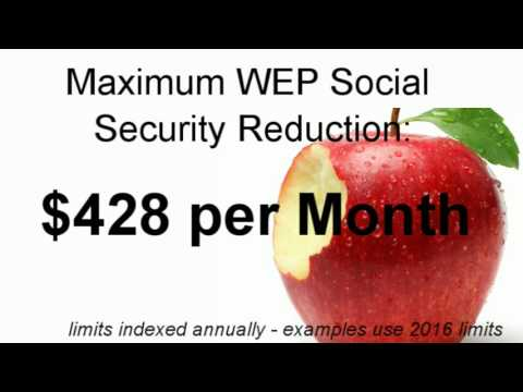 Social Security Windfall Elimination Provision Info (WEP)