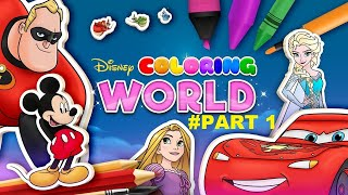 Disney Coloring World Android Gameplay Part 1 ★★★★★