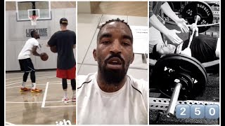 jr smith has changed his look and is on fire in practice lonzo ball is benching 250 lbs