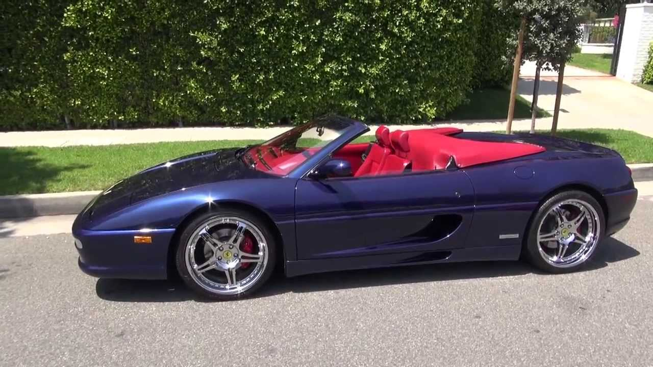 ferrari 355 spider le mans blue over bordeaux the only one in this color combination youtube. Black Bedroom Furniture Sets. Home Design Ideas