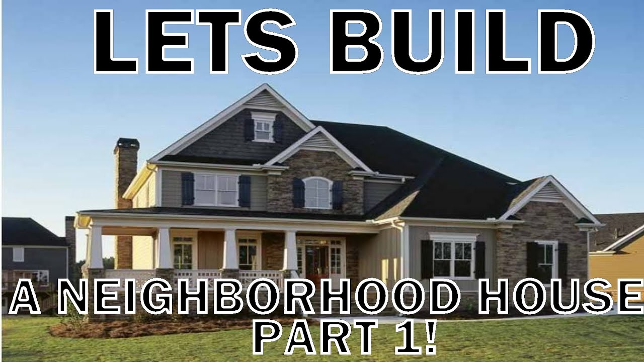 MineCraft Lets Build Neighborhood House PART1 WCOMMENTARY