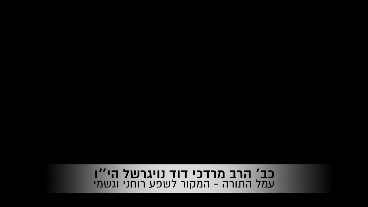 כב׳ הרב מרדכי דוד נויגרשל   אם בחוקותי תלכו שתהיו עמלים בתורה