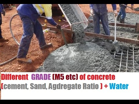 different grades of concrete use for different cement. Black Bedroom Furniture Sets. Home Design Ideas