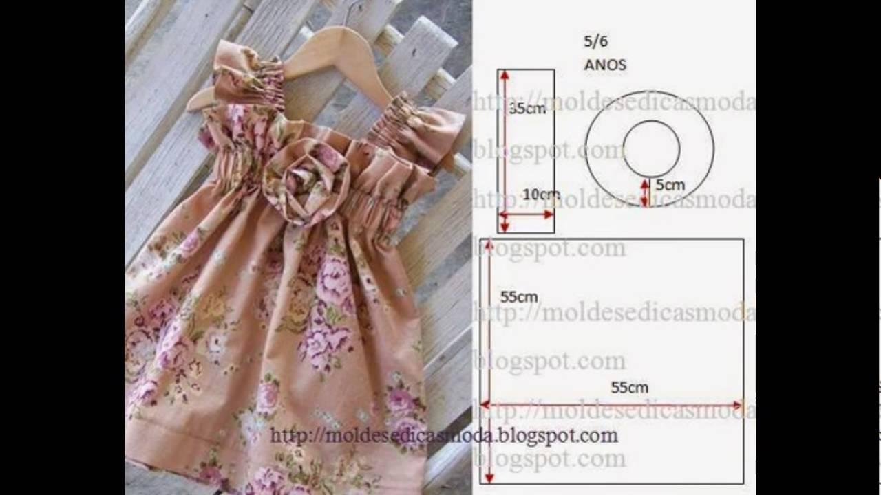 Кройка платьев детских