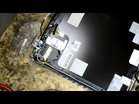 HP DV7 Восстановление шлейфа матрицы и крепления петель матрицы