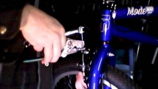 bicycle brake adjustment, mongoose bmx bike.