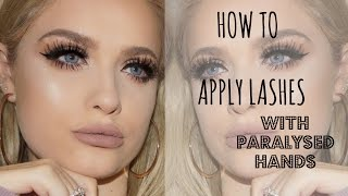 APPLYING LASHES WITH PARALYSED HANDS | Jordan Bone