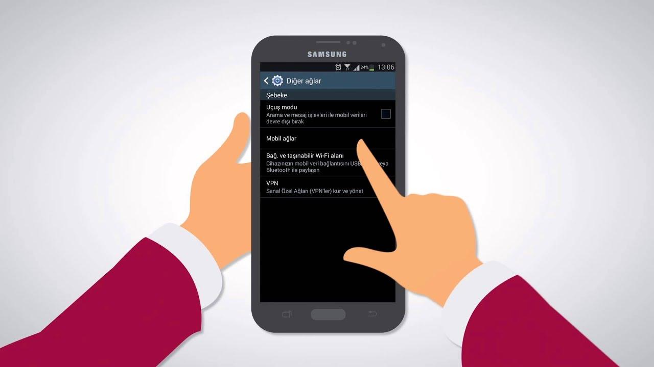 Samsung Galaxy Ucun Nar Internetin Ayarlanmasi Youtube