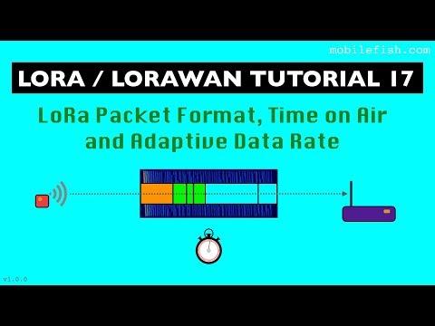 LoRa/LoRaWAN tutorial 17: LoRa Packet Format, Time on Air