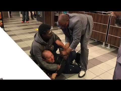 Santa Monica Security Guard gets beat down.