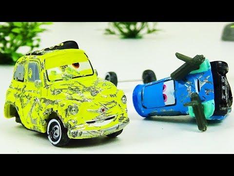 Luigi and Guido Crash & Repair!  Disney Cars Toys Video for Kids