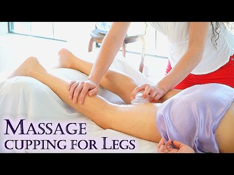 Massage Cupping Techniques For The Legs, Cellulite, Lymphatic Flow, Detox