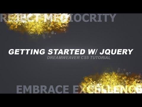 Basics & Getting Started with jQuery! Dreamweaver CS5 Tutorial