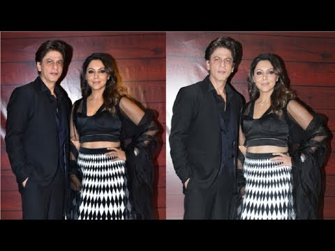 Shahrukh Khan & Wife Gauri Khan CUTE Together At Javed Akhtar Birthday Party