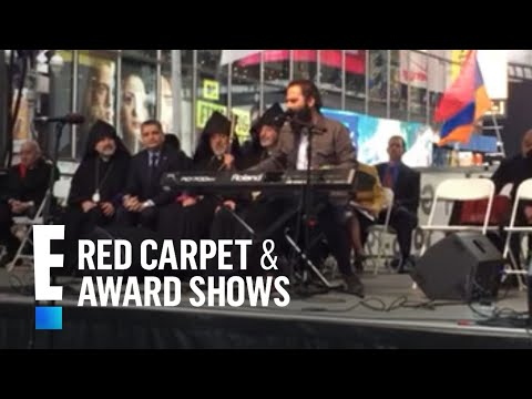 Capital Cities' Sebu Simonian Performs 'Safe And Sound' In Times Square | E! People's Choice Awards