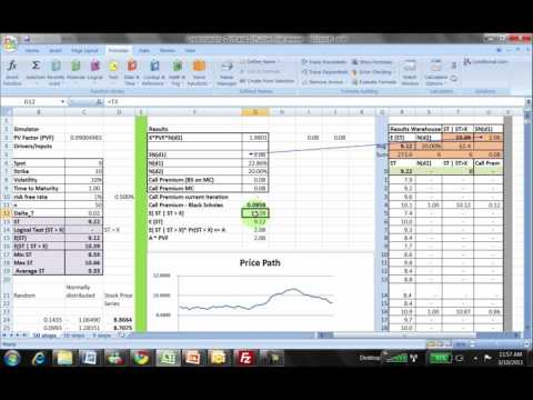 Black Scholes Understanding Nd1 and Nd2 using MC Simulation in Excel