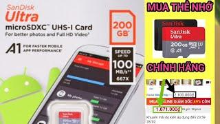 Thẻ nhớ MicroSD 200GB SanDisk Class 10, mua online giá rẻ trên thegioididong.com