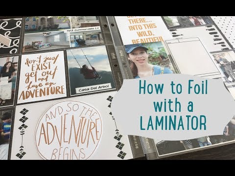 How to foil Digital project life cards