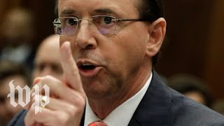 Rod J. Rosenstein holds a news conference