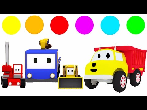 Ucz się kolorów z Małe Samochodziki, Dino dinozaur, Ethan śmieciarka