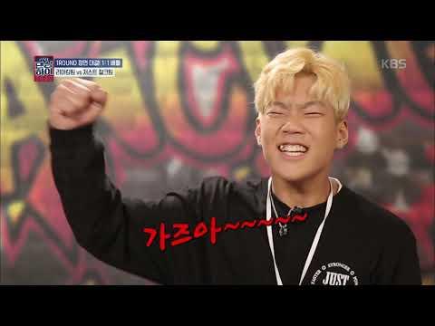 댄싱하이 - 1ROUND 정면 대결 1:1 배틀 리아킴팅 vs 저스트 절크팀! 20181019