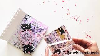 Surprise Envelope Card for Valentine's Day | Ruchi's Crafeteria | Dress My Craft | Made On Order
