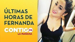 Fiscalía relató últimas horas de Fernanda Maciel - Contigo en La Mañana