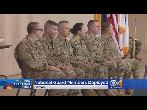 Colorado National Guard Members Deployed To Middle East