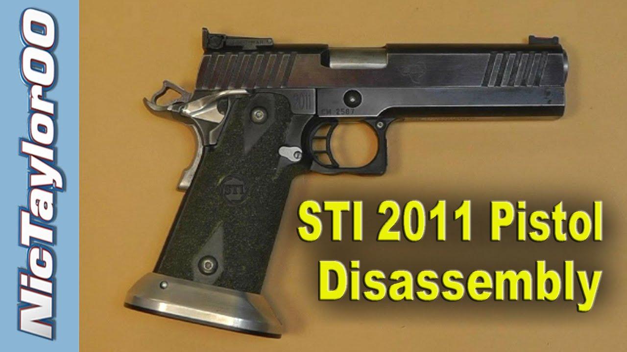 sti 2011 competition pistol field strip disassembly instructions rh youtube com Handgun Stand Handgun Box