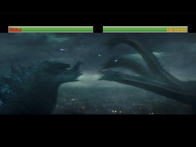 Godzilla vs King Ghidorah...with healthbars (Part 1)
