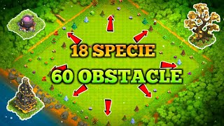 OLD OBSTACLES AND ACCOUNT IN CLASH OF CLANS!//COC 60 SPECIAL OBSTACLE