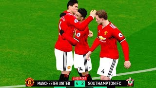 Manchester United vs Southampton 30/12/2017 Gameplay