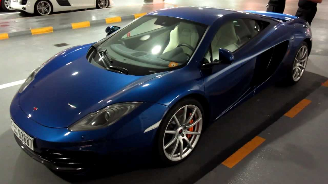 mclaren mp4-12c azure blue - youtube