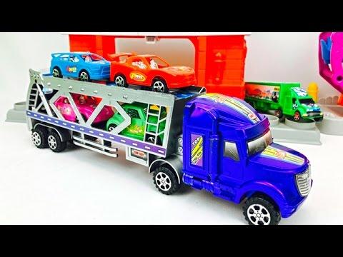 39786950 Camión Transportador - Carros de Colores para Niños - Videos para Niños