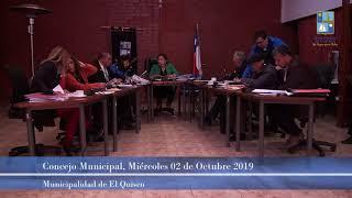 Concejo Municipal, miércoles 02 de octubre 2019