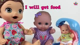 BABY ALIVE Potty Overflow Slime Poop w/ BAD BABIES !! Babies Funny Poop & Potty Training Video:))