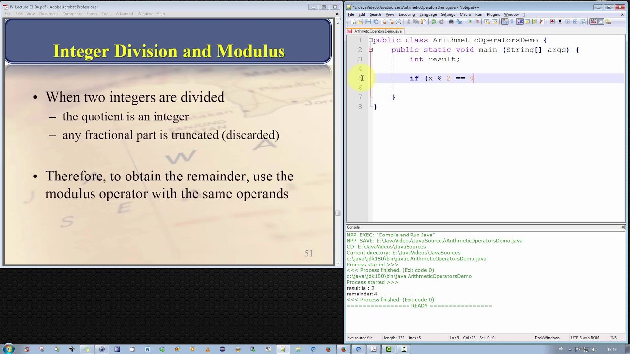 Java Programming Tutorial - Integer Division and the Modulus ...