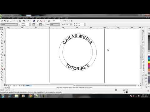 Corel Draw Tips & Tricks Contour Tool for a text logo..