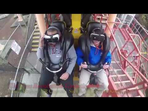THE NEW REVOLUTION: GALACTIC ATTACK VR Coaster Reverse POV | Six Flags Discovery Kingdom
