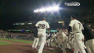 Giants walk off on Posey