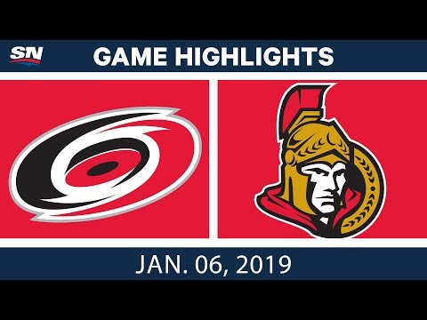 NHL Highlights | Hurricanes vs. Senators - Jan. 6, 2019