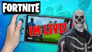 🔴 Pro Fortnite Nintendo Switch Player //Pro Solo Matches  // Fortnite Gameplay + Squads With Subs!