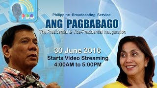 PBS Radyo ng Bayan - The Inauguration Coverage - 30 June 2016