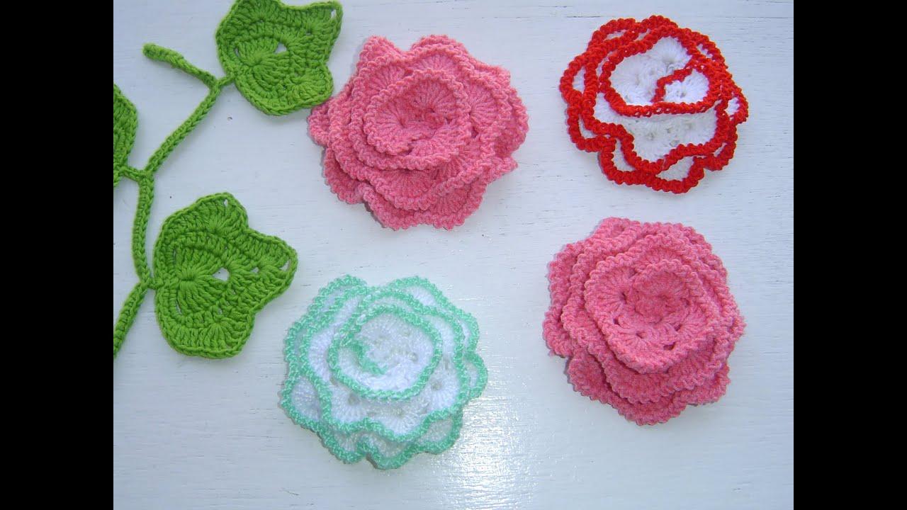 Como tejer flor a crochet paso a paso youtube - Ideas para hacer ganchillo ...