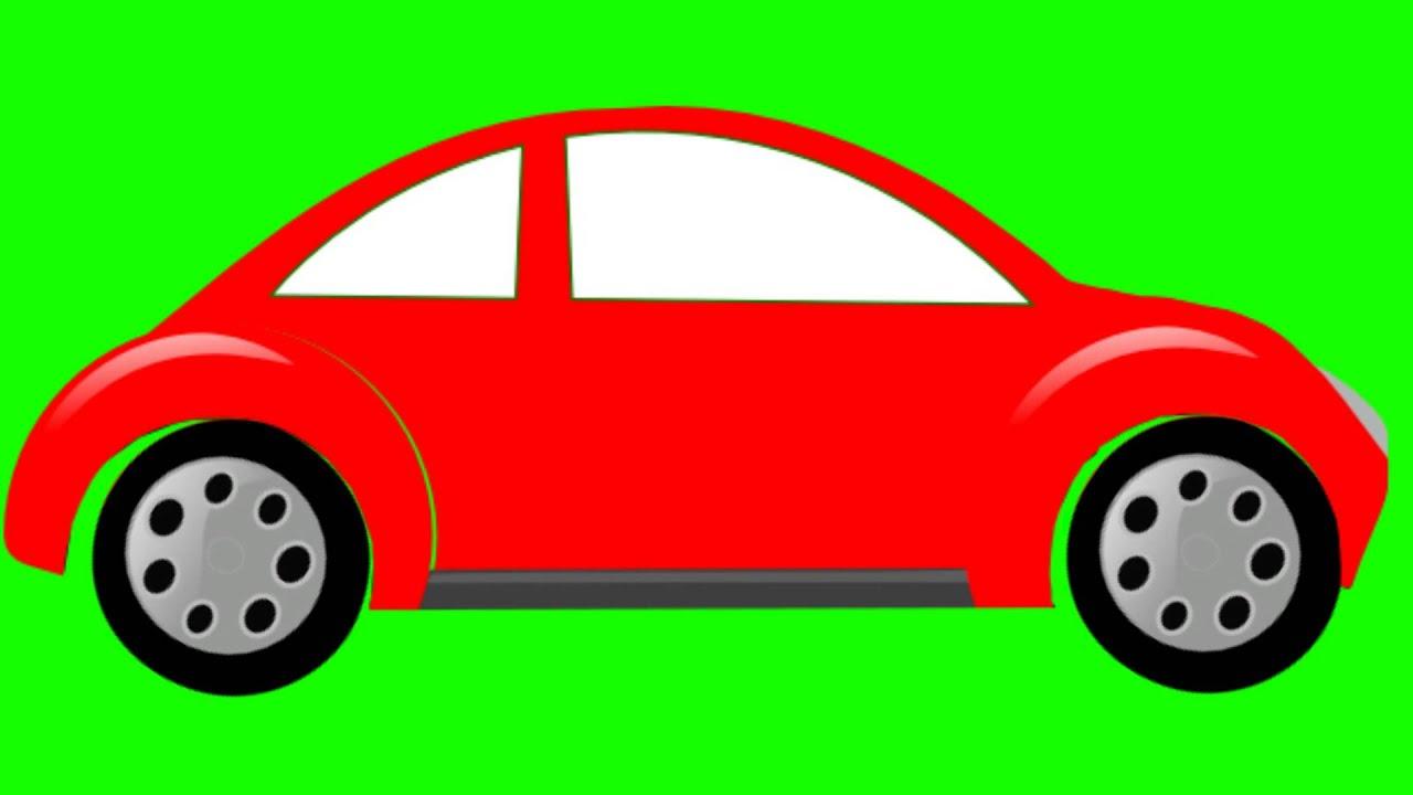 Cartoon Car Animation Green Screen Free Stock Footage Youtube