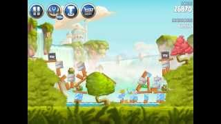 Angry Birds Star Wars II Naboo Invasion B1-S1 3 star walkthrough