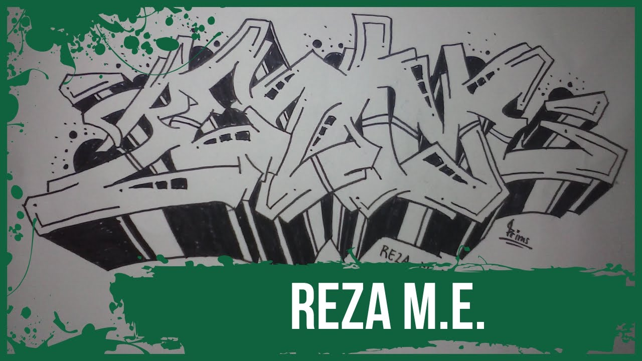 How To Make Graffiti Name Reza M E In Graffiti Graffitiprims