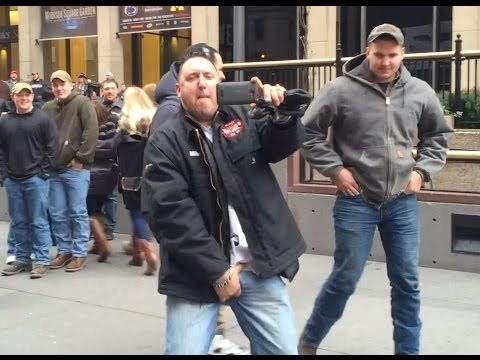 Bull Riding Protest NYC